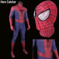 Костюм Человека паука для взрослых, 3D паутина, тисненый Человек паук, Удивительный Человек паук, 2 костюма для косплея, тисненый костюм Челов