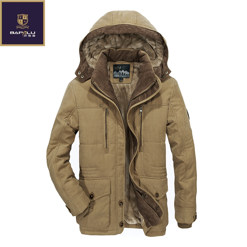 The new winter jacket Middle age Men Plus thjck warm coat jacket mens casual hooded coat jacket size 4XL 5XL 6XL