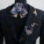 Novo Frete Grátis moda Broche de Laço DOS HOMENS do sexo masculino bolso toalha coreano casamento do noivo padrinho de casamento Terno Britânico conjunto caixa de presente EM VENDA