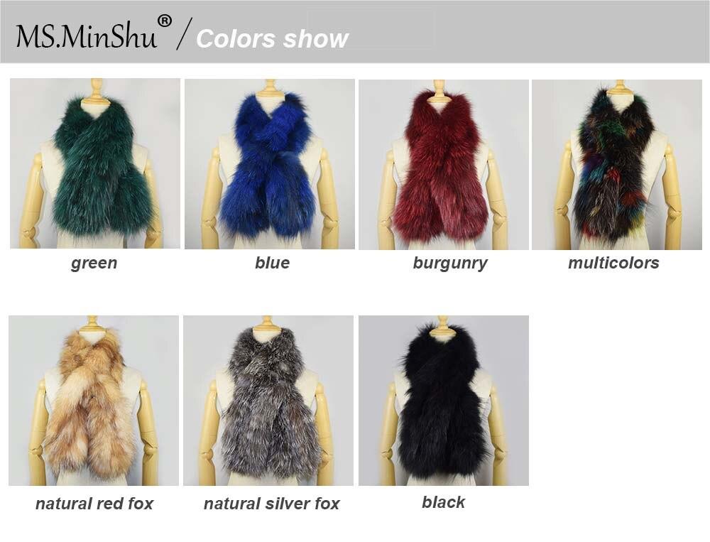 knit fox fur scarf colors show