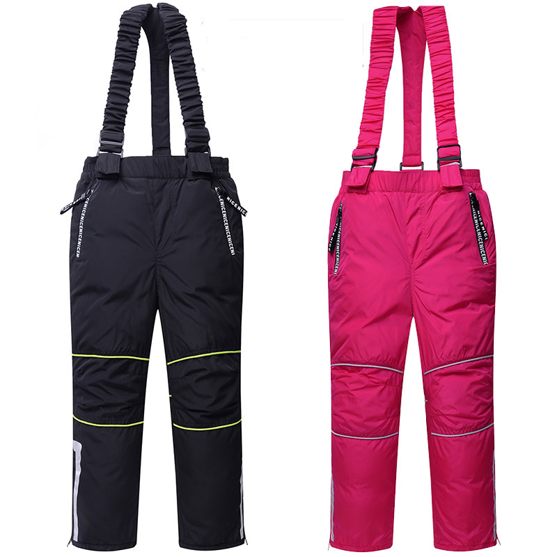 2018 New Arrive Winter Children's Ski Pants Boy And Girl Overalls Down Pants Girls Thick Warm Disassemble Pant Pants For 6-9T the new spm20g601h and disassemble
