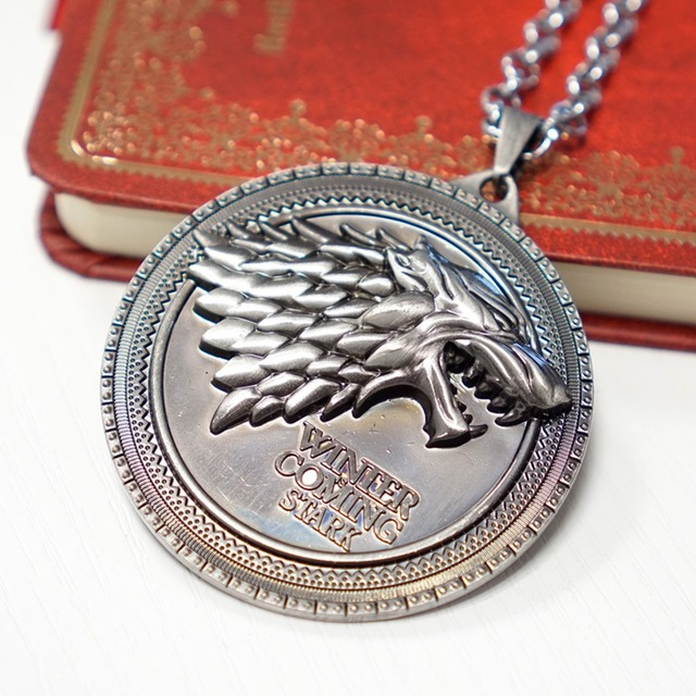 Game of Thrones Stark Wolf Pendant Necklace
