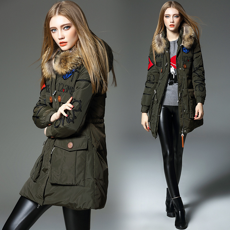 Aliexpress.com : Buy Green Long Down Jacket Winter Jacket Women ...