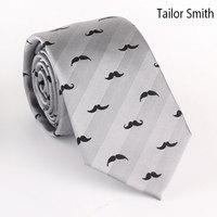 Tailor Smith Designer Fashion Funny Necktie Luxury Pure Silk Burgundy Gray Navy Tie Mens Wedding Party