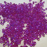 10000 pcs 4.5mm Acrílico roxo Diamante Festa de Casamento Confetti Decoração de Mesa Dispersadores 002045008