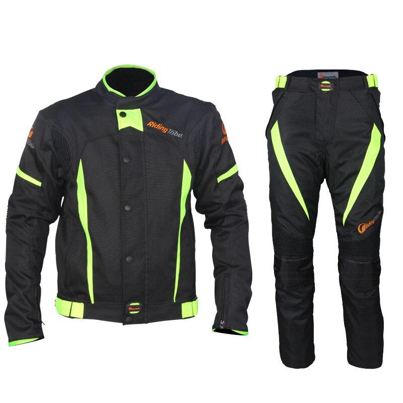 Combinaison de cyclisme moto veste d'équitation imperméable à l'eau réfléchir course hiver été moto Gear veste rallye costumes pantalon