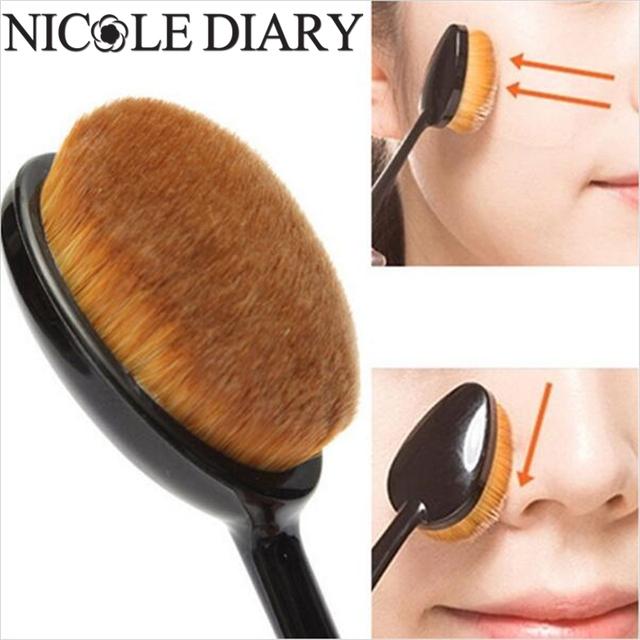 4 Pçs/set Pó Foundation Brush Set Escova Oval Forma Beleza Kits de Escova Maquiagem Ferramenta 8311729