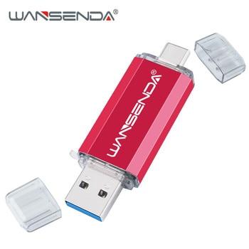 Hotsale WANSENDA OTG USB Flash Drive Type C Pen Drive 512GB 256GB 128GB 64GB 32GB 16GB USB Stick 3.0 Pendrive for Type-C Device 9