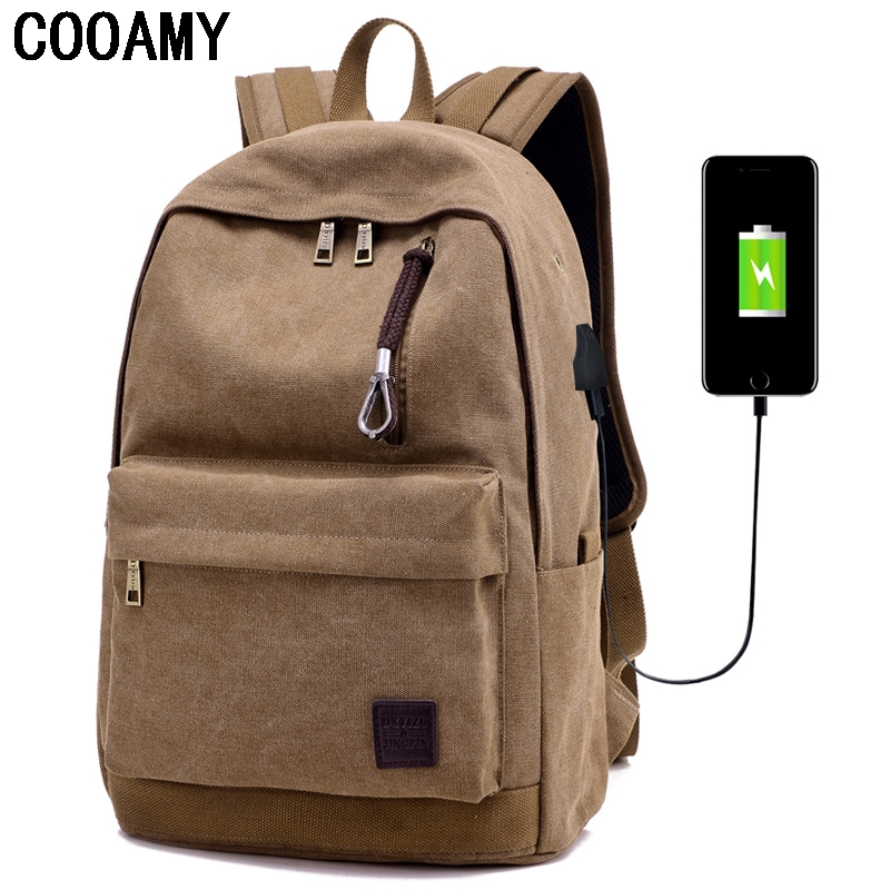 High Quality Canvas Laptop Computer Backpack Bag USB Schoolbags For 15-17inch Notebook Waterproof Travel Bag For Men Women jacodel laptop bagpack 15 inch notebook backpack travel case computer pc bag for lenovo asus dell notebook 15 6 inch school bags