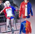 Batman Suicide Squad Harley Quinn Puddin girls cosplay costume jacket tshirt pants tattoo gloves bracelet belt suit costume