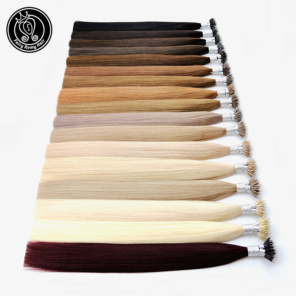 Fairy Remy Hair 0.8g/s 20 Inch Micro Ring Remy Human Hair Extensions Straight Black European Nano Ring Human Hair Pre Bonding