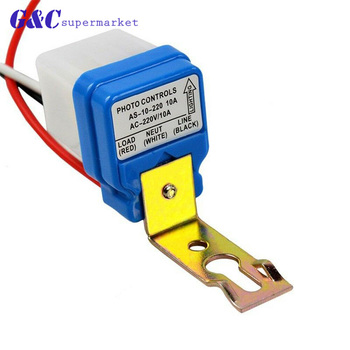 Automatic Auto On Off Street Light Switch Photo Control Sensor Switches AC 220V 10A kkmoon auto vehicle switches