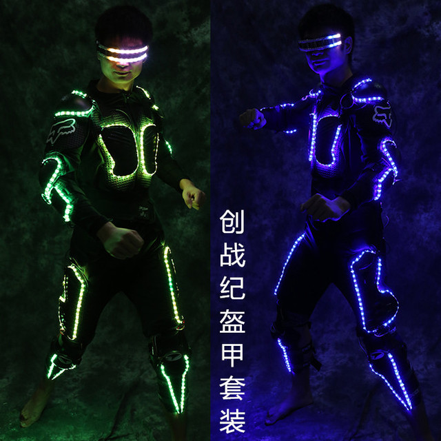 Free Shipping LED Lighting Armor Tron Legacy Luminious Robot Suit With Glasses Gloves Kneecap For Night  sc 1 st  AliExpress.com & Free Shipping LED Lighting Armor Tron Legacy Luminious Robot Suit ...