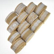 2M 5cm Natural Jute Burlap Ribbon Rustic Vintage Wedding Decoration Hessian Lace Roll Merry Christmas Party Supplies DIY
