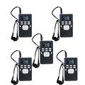 5 unids Mini FM DSP Radio Reloj Digital Estéreo Receptor para Reunión de Interpretación Simultánea Portátil Radio FM Y4305A