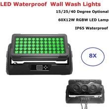 цены 8 Units High Quality 60X12W RGBW 4IN1 Led Bar Wall Wash Light DMX512 Wash Wall Led Outdoor Flood Light DJ Bar Party Show Lights