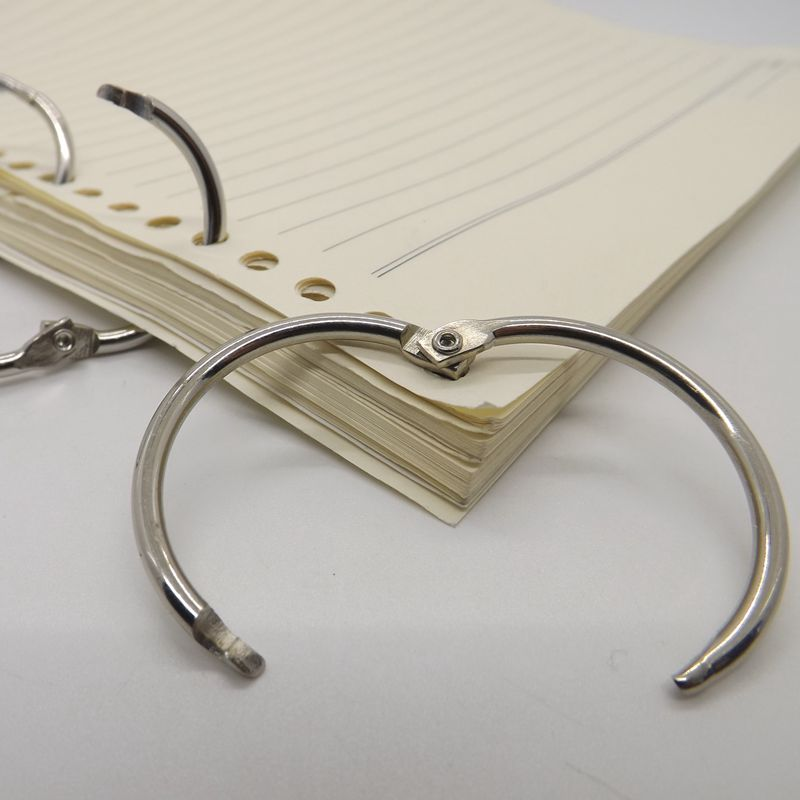 Aliexpress Hot Sales Collection Ring Metal Book Ring Curtain Circle Keychain 10pcs/package Calendar Ring Manufacturer Direct