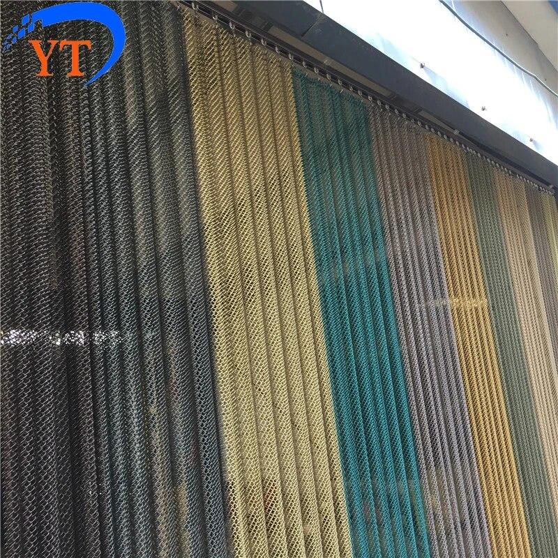 decorative customized metal coil door curtain drapery mesh chain link curtain