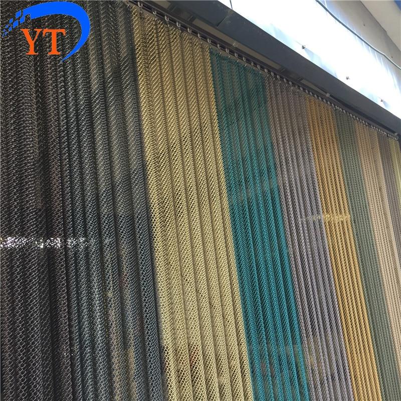 Decorative Customized Metal Coil Door Curtain Drapery Mesh