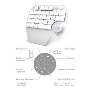 Image 3 - Delux T11 מעצב אחת יד ארגונומי מקלדת + משטח חיוג + M618 מיני אלחוטי Bluetooth אנכי עכבר קומבו עבור מחשב נייד