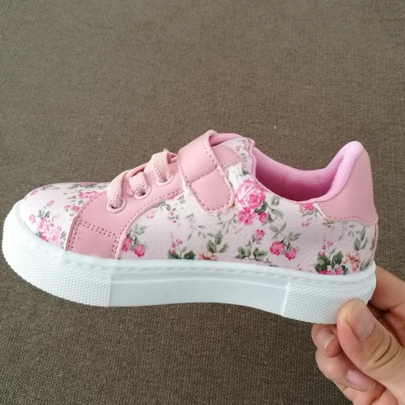 preto sapatos casuais flor infantil branco sapatos