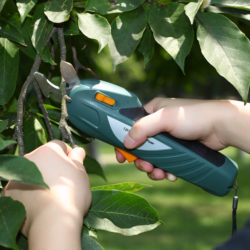 7.2V Electric Pruning Scissors Rechargeable Shear Gardening Orchard Branches Cutting Tool WWO66 gardening tool manual weeder