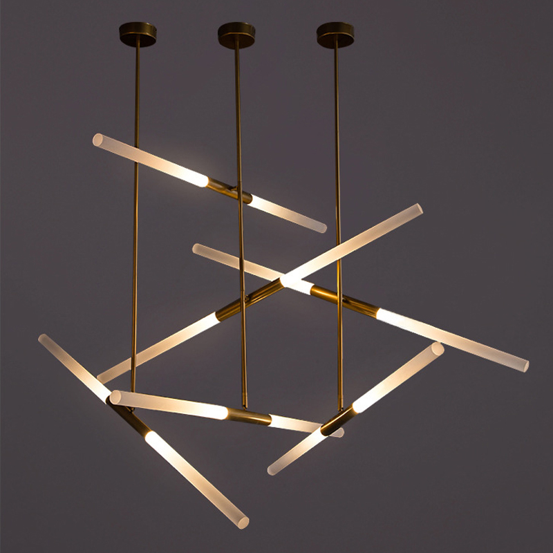 Us 56 3 New Nordic Modern Led Pendant Lamp Light Bar Ac90 260v 360 Rotation Universal Lighting Fixtures Living Room Restaurant In