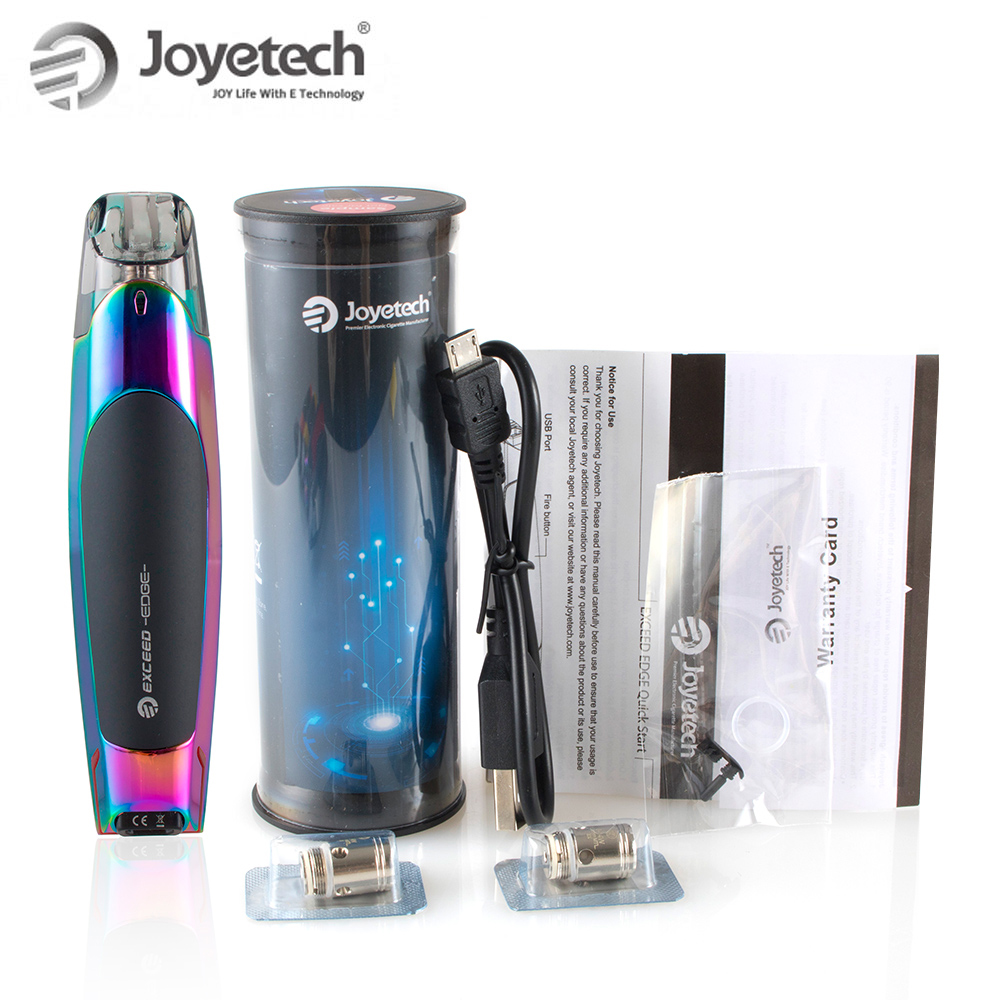 100% Original Joyetech EXCEED Edge Kit With 2ml Eliquid EX 1.2ohm  Coil Built in 650mAh Battery Direct Output Wattage E  CigaretteElectronic Cigarette Kits