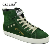 CANGMA Italy Designer Woman S Boots Casual Shoes Genuine Leather Sneakers Women Lace Up Cow Suede
