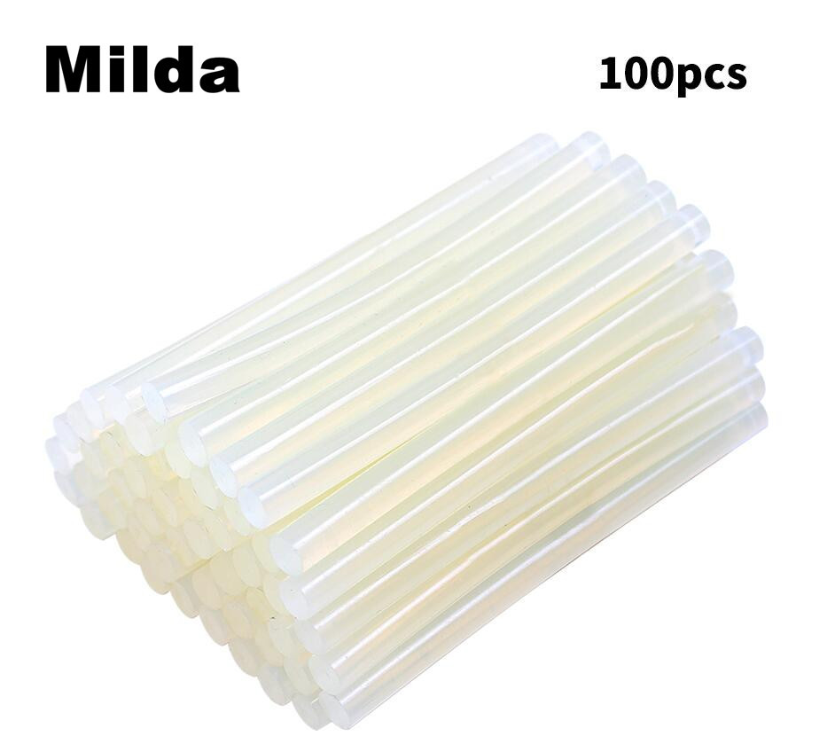Milda 100 Pcs 7MM*100MM Clear Hot Melt Glue Sticks For Glue Gun Car Dent Paintless Hand Tools Ferramentas Auto Repair Tools