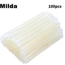 Milda 100 Pcs 7MM*100MM Clear Hot Melt Glue Sticks For Glue Gun Car Dent Paintless Hand Tools Ferramentas Auto Repair Tools