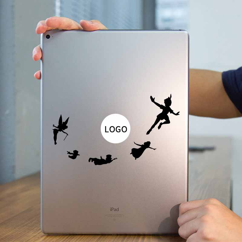 Peter Pan Fairy Tale Laptop Sticker for Apple iPad Decal Air / 1 /2 / 3 / 4 / Mini Surfa ...