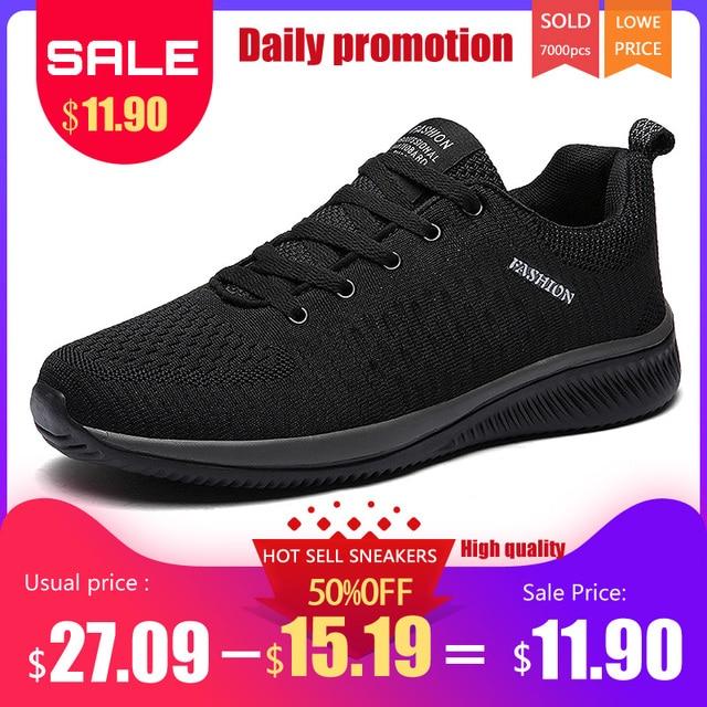 Popular Nova Malha Homens Sapatos Casuais Lac-up Homens Sapatos Leves Confortáveis sapatos de Caminhada Respirável Tênis Zapatos Tenis Feminino