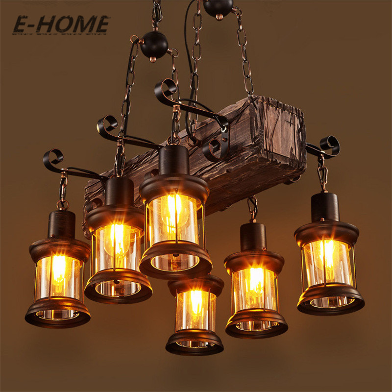 American Rural creative retro industrial wind restaurant bar PERSONALIZED COFFEE boat solid wood Chandelier цена 2017