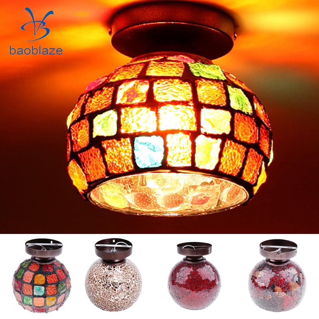E27 Tiffany Style Pendant Light Art Stained Glass Ceiling Light Shade Fixture ...