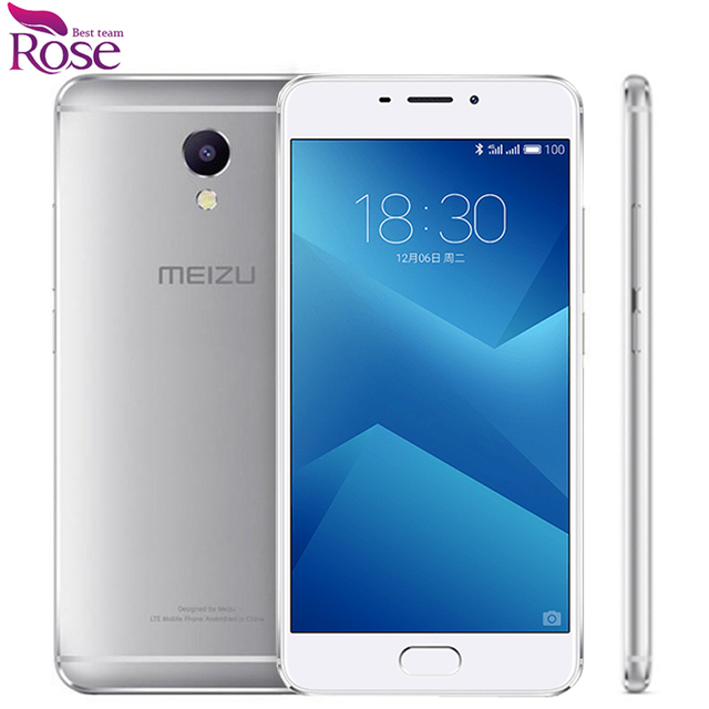 "Original Meizu M5 Note Helio P10 Octa Core 3GB RAM 16GB ROM Fingerprint ID Mobile Phone 5.5"" 13.0MP 4000mAh"