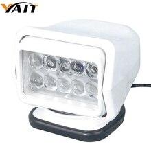 Yait 60 градусов вращающийся 7 дюймов 50 Вт светодиодный поисковый светильник с дистанционным управлением точечный рабочий светильник для вилочного подъемника, поезда, лодки, автобуса и танков