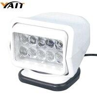 Yait 60 градусов вращающийся 7 дюймов 50 Вт Светодиодный прожектор дистанционное управление пятно света для вилы лифт, поезда, лодка, автобус, и ...