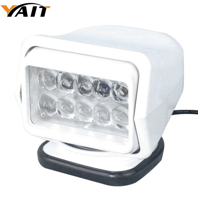 Yait 60도 회전 7 인치 50 W Led 검색 빛 원격 제어 자리 작업 빛 포크 리프트, 기차, 보트, 버스 및 탱크