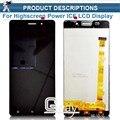 Para Highscreen HIELO Poder Original Lcd pantalla blanca Touch Panel Digitalizador Asamblea repalcement piezas de reparación