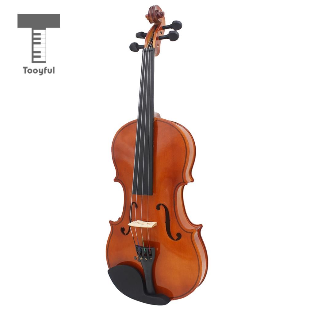 4/4 Full Size Solid Wood Basswood Violin Set with Rosin Bow Case for Beginner Practice beautiful blue violin 4 4 1 4 3 4 1 2 1 8 size available violin full set with bow rosin bridge case colorful violins available