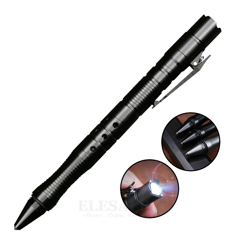 цены Multi-Function Self Defense Tactical Pen With Emergency Flashlight Glass Breaker Strobe Outdoor Camp Travel EDC Tool Father Gift