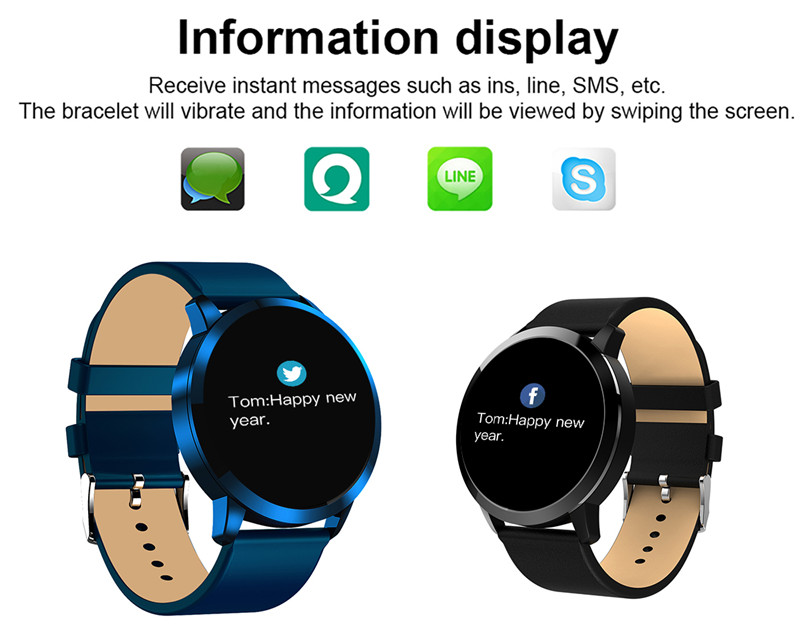 MAFAM Q8 Smart Watch OLED Color Screen Smartwatch Men Women Fashion Fitness Tracker Heart Rate Monitor For IOS Android Watch (21)