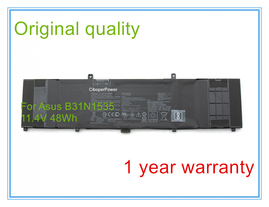 Original battery for New UX310UA UX310UQ B31N1535 48Wh Battery 2017 liitokala 2pcs new protected for panasonic 18650 3400mah battery ncr18650b with original new pcb 3 7v