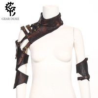GearDuke Brown PU Leather Changeable Sleeve Steampunk Arm Sheath Vintage Armor Arm Warmer Cosplay Corset Costume Accessories