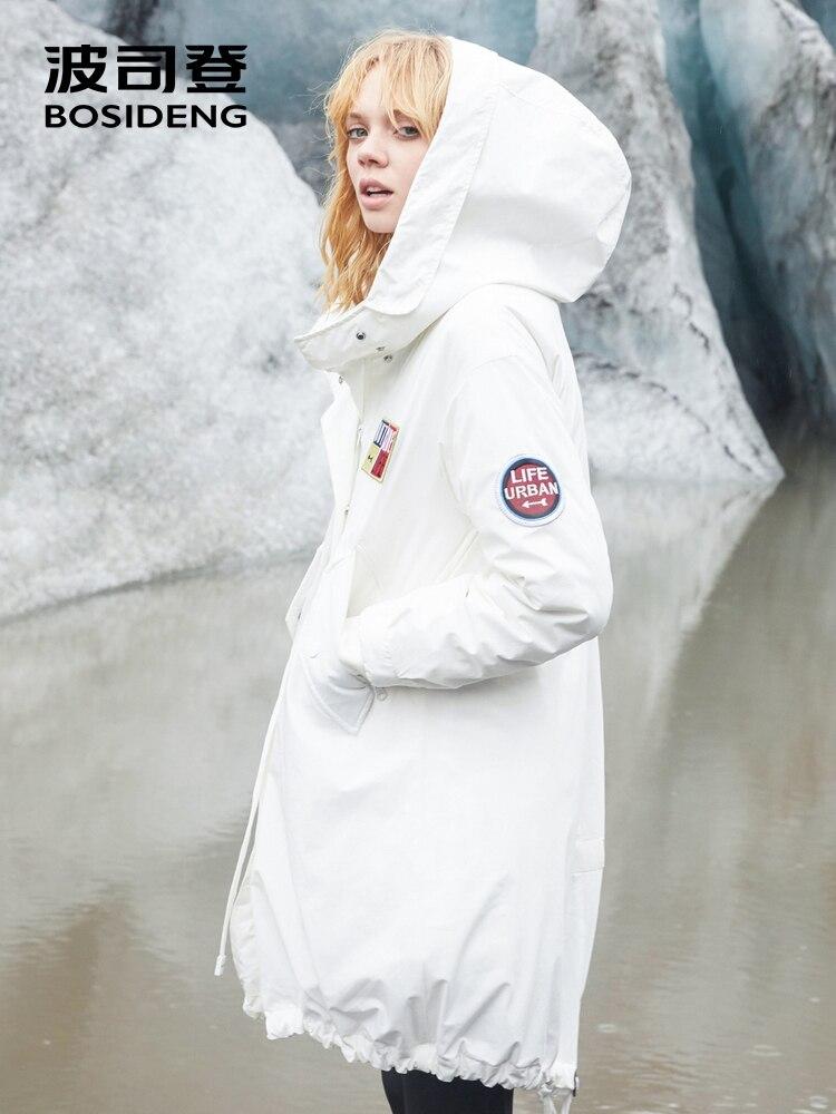 BOSIDENG new down jacket women's mid-long detachable down lining winter fashion windbreaker jacket warm B80132118