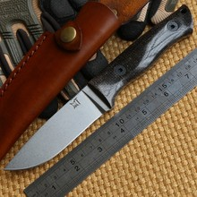 Herdsman G10 handle leather sheath Hunting knife D2 blade Steel Fixed Blade Knife survival camping outdoors knives EDC tools