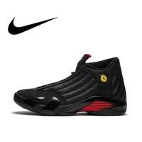 NIKE Air Jordan 14 Retro Mens Basketball Shoes Sport Outdoor Sneakers Top Quality Athletic Designer Footwear 2018 New 487471 003