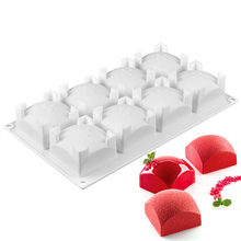 Silicone Cake Mold 8 Holes Square Baking For Muffin Pudding Mousse Chocolate Jelly Dessert Cube Cakes Molds Tools