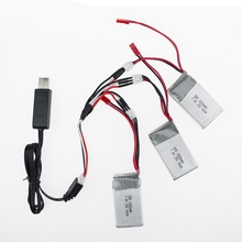 USB charger 1to3 split cable 2016 Hot Sale 7.4V 1000mAh 25C WLtoys V912 V915 Upgraded Battery For RC Multicopter Wholesale